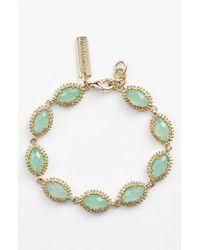 Kendra Scott | Green 'jana' Line Bracelet - Chalcedony | Lyst