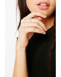 Adina Reyter - Metallic Pave Diamond Double Bar Ring - Lyst