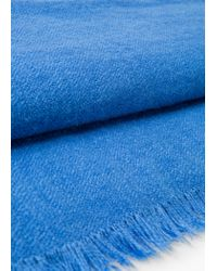 Mango - Blue Textured Scarf - Lyst