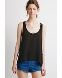 Forever 21 | Black Contemporary Layered Sleeveless Top | Lyst