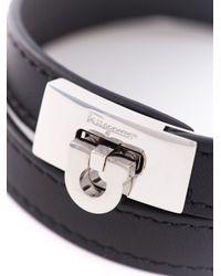 Ferragamo - Black Gancio Wrap Bracelet for Men - Lyst