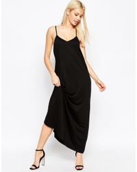 ASOS | Black Strappy Maxi Dress | Lyst