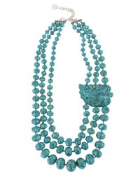 Devon Leigh | Blue Triple-strand Turquoise Necklace | Lyst
