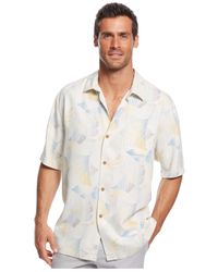 Tommy Bahama - Natural Lunar Lines Silk Shirt for Men - Lyst