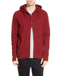 Nike | Red 'everett' Graphic Zip Front Hoodie for Men | Lyst