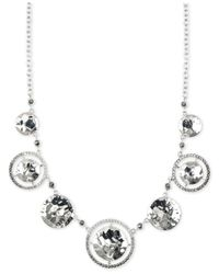 Judith Jack | Black Silver-Tone Marcasite And Crystal Necklace | Lyst