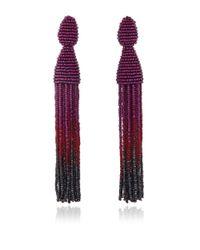 Oscar de la Renta | Purple Ombré Tassel Earrings | Lyst