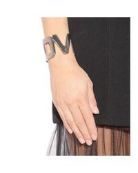 Givenchy - Metallic Love Metal Cuff - Lyst