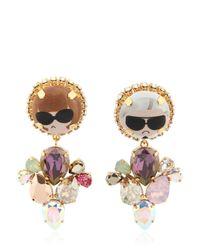 Bijoux De Famille | Multicolor Dress Me Pendent Earrings | Lyst