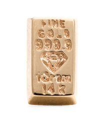 Alison Lou - Metallic Bar Of Gold Stud Earrings - Lyst