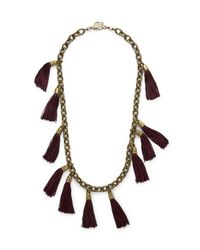 Lela Rose | Purple Tassel And Chainlink Necklace | Lyst