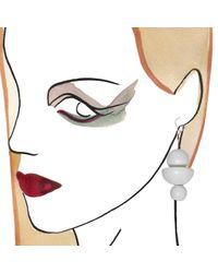 Marion Vidal | White Trio Earrings | Lyst