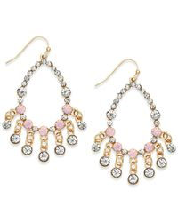 INC International Concepts - Gold-tone Pink Bead Gypsy Earrings - Lyst