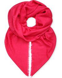 Loewe | Pink Anagram Jacquard Shawl | Lyst