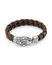 Platadepalo | Brown Silver Snake Head With Buffalo Strap | Lyst