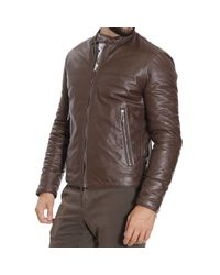 Paolo Pecora - Brown Down Jacket for Men - Lyst