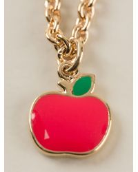 Marc By Marc Jacobs   Red 'bow Tie With Apple' Necklace   Lyst