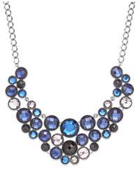 INC International Concepts | Hematite-tone Blue Multi-circle Bib Necklace | Lyst
