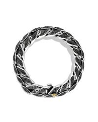 David Yurman - Curb Chain Wide Bracelet with Black Diamonds for Men - Lyst