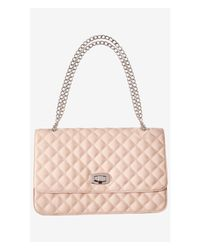 Express | Natural Large Quilted Chain Strap Shoulder Bag | Lyst
