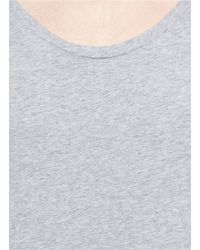 Acne Studios - Gray Scoop-neck Cotton T-shirt for Men - Lyst