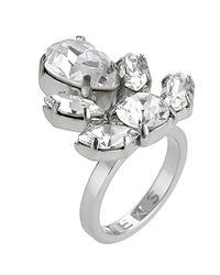 Mews London - Metallic Crystal Crest Ring - Lyst