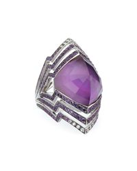 Stephen Webster | Purple Lady Stardust Amethyst & Diamond Ring | Lyst