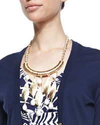 Lilly Pulitzer - Metallic She Shells Necklace - Lyst