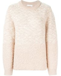See By Chloé - Pink Flecked Chunky Knit Sweater - Lyst