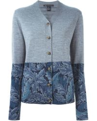 Marc By Marc Jacobs - Gray Panelled Cardigan - Lyst