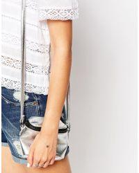 Estella Bartlett - Metallic Silver Plated Lady Luck Star Chain Bracelet - Lyst