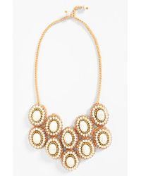 Panacea | Metallic Howlite Bib Necklace | Lyst