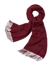 Tory Burch - Red Whipstitch-t Scarf - Lyst