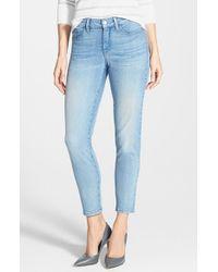 NYDJ | Blue 'clarissa' Stretch Skinny Ankle Jeans | Lyst
