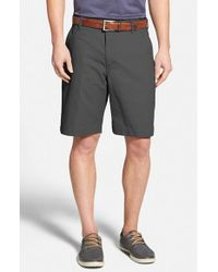 Bills Khakis | Gray 'parker' Standard Fit Flat Front Island Twill Shorts for Men | Lyst