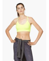 Mango | Yellow Fitness & Running - Seamless Light Impact Bra | Lyst