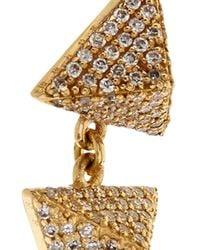 Ileana Makri | White-Diamond & Yellow-Gold Pyramid Earrings | Lyst