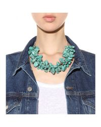 By Malene Birger - Green Cillo Embellished Necklace - Lyst