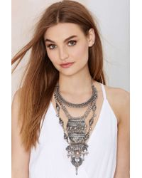 Nasty Gal - Metallic Amanti Tiered Necklace - Lyst