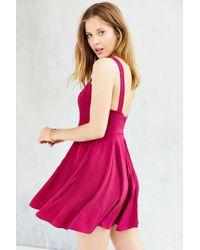 Kimchi Blue | Pink Notch-Front Thick-Strap Dress | Lyst