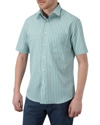 Skopes | Green Check Classic Fit Short Sleeve Classic Collar Shi for Men | Lyst