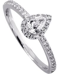 Messika | Metallic Joy 18ct White-gold Pear-cut Diamond Ring | Lyst