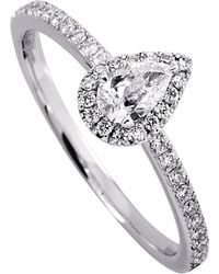 Messika - Metallic Joy 18ct White-gold Pear-cut Diamond Ring - Lyst