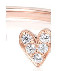 Ruifier - Pink Elements Diamond Flutter Heart Ring - Lyst