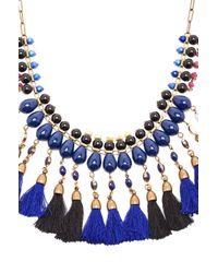 Isabel Marant - Blue Tasseled Necklace - Lyst