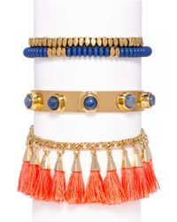 BaubleBar - Multicolor Positano Tassel Bracelet Trio-standard - Lyst