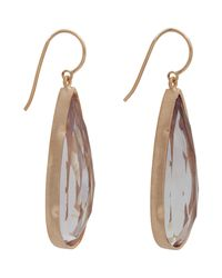 Irene Neuwirth | Pink Elongated Teardrop Earrings | Lyst