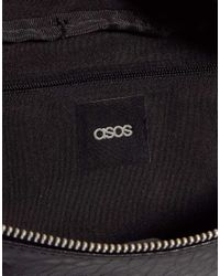 ASOS | Black Casual Bumbag with Front Zips | Lyst