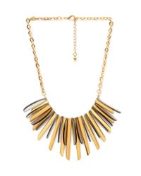 Forever 21 | Metallic Plated Faux Stone Bib Necklace | Lyst