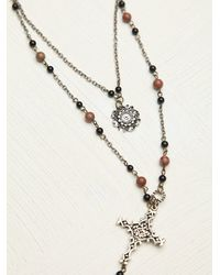 Free People | Multicolor Womens Double Layer Rosary | Lyst
